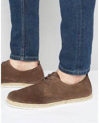 Zign suede lace up shoes with espadrille detail medium 3707079