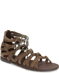 Brown Suede Gladiator Sandals