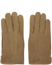 Brown sude luc gloves medium 817724