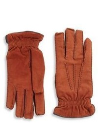 Brunello Cucinelli Cashmere Lined Suede Gloves