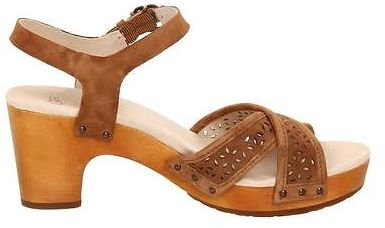 0dc62a805ca UGG Australia Luella Sandals Chocolateches Tnut Suede Heeled Shoes Choose  Size