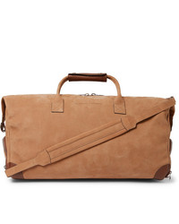Brunello Cucinelli Leather Trimmed Nubuck Holdall