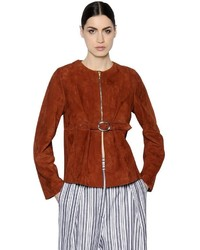 Sportmax belted suede jacket medium 1198223