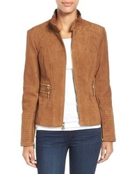 Suede zip front jacket medium 807108
