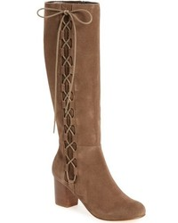Sole Society Arabella Knee High Lace Up Boot