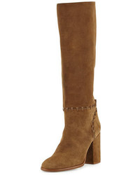 Contraire suede 90mm knee boot river rock medium 693012