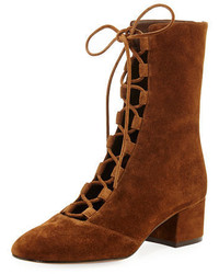 Delia suede lace up ankle boot medium 4106268