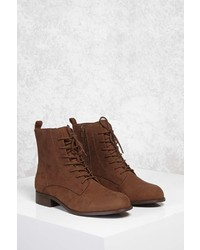Forever 21 Faux Suede Ankle Boots