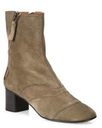 Chloé Chloe Lexie Suede Block Heel Boots