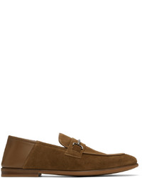 Dunhill Brown Suede Chiltern Roller Bar Loafers