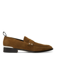 Alexander McQueen Brown Suede Loafers