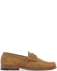 Rhude Tan Suede Penny Loafers