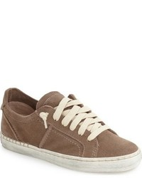 Brown Suede Low Top Sneakers