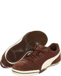 Brown Suede Low Top Sneakers