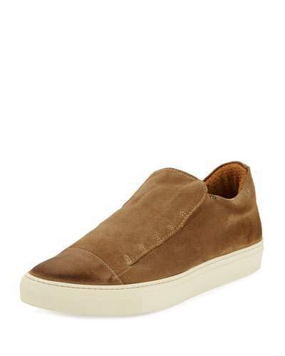 f1fd94b5a25 $398, John Varvatos 315 Reed Laceless Suede Slip On Sneaker