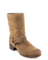 Brown Suede Mid-Calf Boots