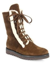 Payton suede shearling lace up boots medium 848216