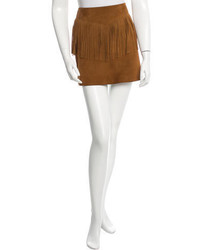 Fringe accented suede skirt w tags medium 1160623