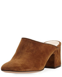 Suede 60mm block heel mule medium 3697496