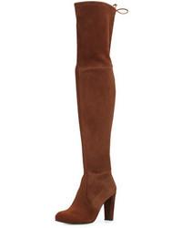 Highland suede over the knee boot walnut medium 1125005