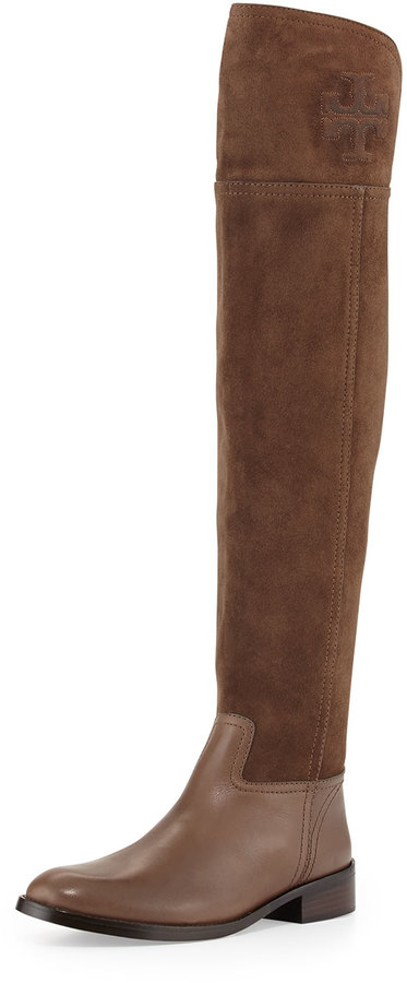 b41d53dd6 ... Tory Burch Simone Suede Over The Knee Boot Brown ...