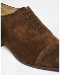 37f0bd4338cc Asos Brand Oxford Shoes In Brown Suede With Toe Cap, $81   Asos ...