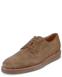 Vince Dylan Suede Lace Up Oxford Truffle
