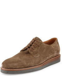 Suede lace up platform oxford medium 826324