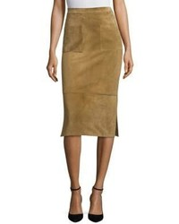 Odessa suede pencil skirt medium 4398092
