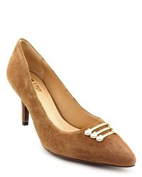 Love Moschino Scarpa Dapple75 Brown Suede Pumps Heels Shoes