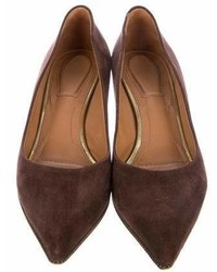Givenchy Suede Pointed Toe Pumps