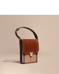 The small satchel in english suede and house check medium 863045