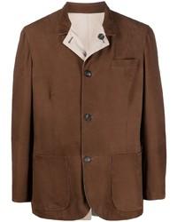 Brunello Cucinelli Reversible Button Up Suede Jacket