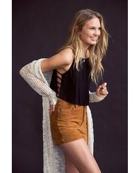 BDG Staring At Stars Suede Foxy Exposed Button Short