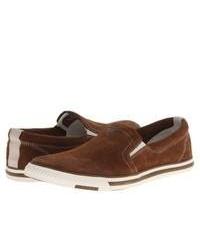 Brown Suede Slip-on Sneakers