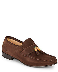 Bamboo tassel suede loafers medium 332304