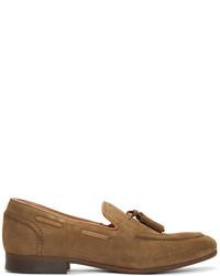 Tan suede pierre loafers medium 3656216