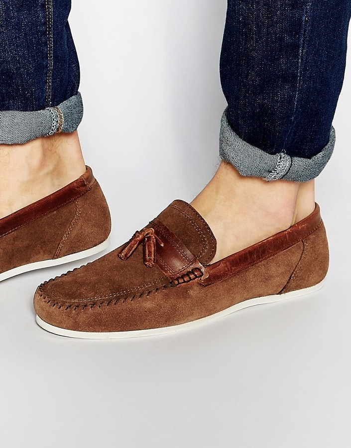 a5292986870 ... Red Tape Tassel Loafer In Brown Suede ...
