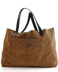 Brown Suede Tote Bag