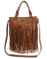 Charlotte Russe Faux Leather Fringe Tote Bag