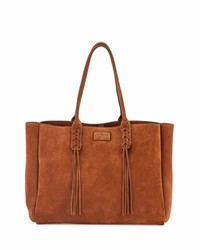 Medium suede tassel tote bag brown medium 1246857
