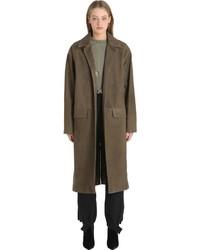 Yeezy suede leather trench coat medium 1141430