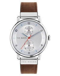 Ted Baker London Brixam Multifunction Leather Watch