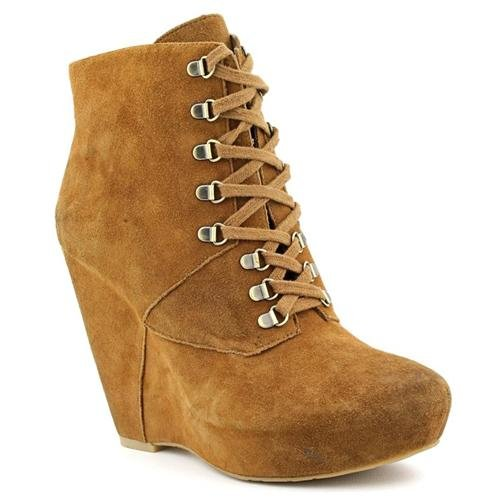 brown suede wedge ankle boots boutique 9 7 delshad brown