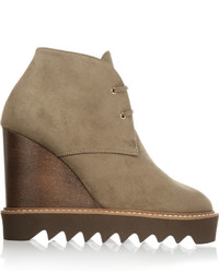 Stella McCartney Faux Suede Wedge Boots