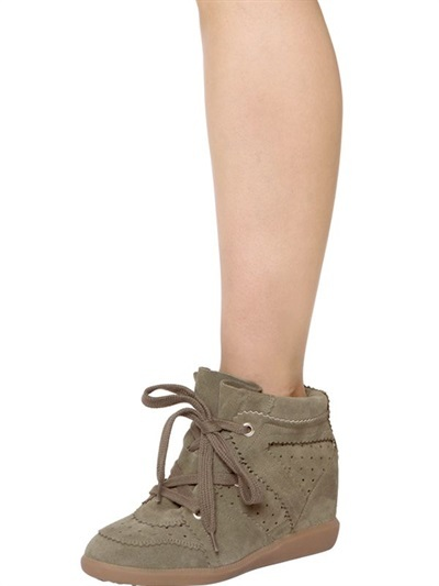ff041c79e3c Isabel Marant Etoile 80mm Bobby Suede Wedge Sneakers