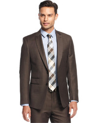 Andrew Fezza Brown Neat Slim Fit Suit | Where to buy & how to wear