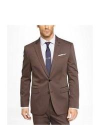 Express Brown Cotton Sateen Photographer Suit Jacket