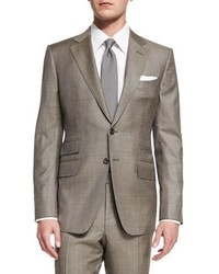 Oconnor base sharkskin two piece suit tan medium 707232
