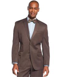 Sean John Peak Lapel Brown Sharkskin Suit | Where to buy & how to wear